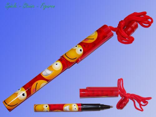 """Halsband Farbe wählbar Kugelschreiber /""""Smiley/"""" mit Clip und Nackenband"""