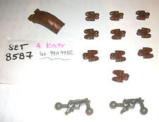 LEGO 8587 OLD Brown Dark Grey Hero Factory lot Bionicle Ball Socket 32174 32173