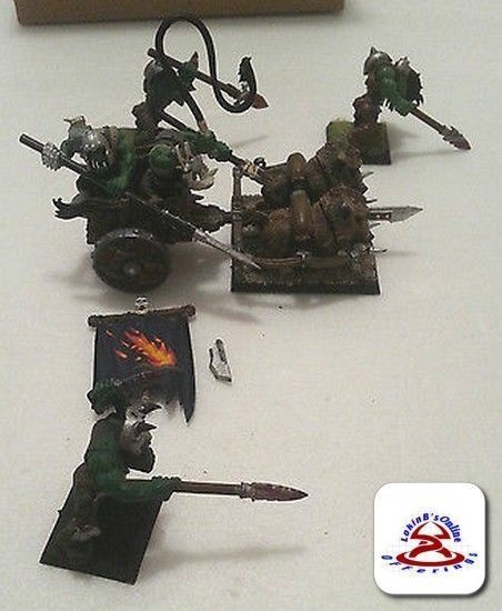 Warhammer Orc Boar Chariot with extra orcs...