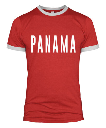 Panama Testo T-Shirt con Slogan retrò di calcio coppa del mondo di Top Uomini Donne Bambini 2018 L254