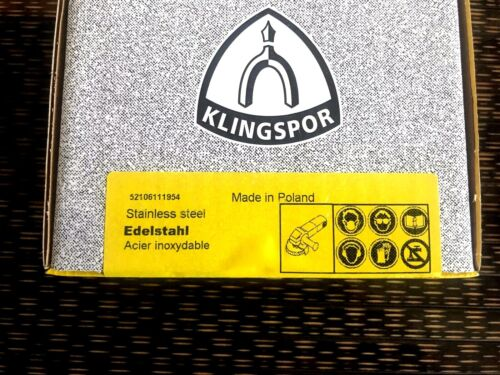 1xVlies Kombi Schleifmopteller,SMT850+,KLINGSPOR,125mm.Korn 60 Grob Edelstahl