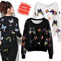 Womens Long Sleeve Blouse Jumper Pullover Sweatshirt Casual Loose Tops Sweater