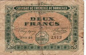 Bordeaux 2 Francs Série 26