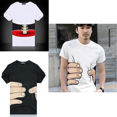New Unisex Summer Women Men's Hand Catch Short Sleeve O Neck T-shirt Tops