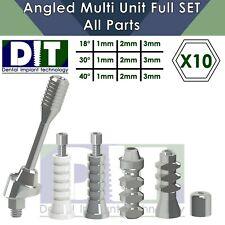 10 X Dental Full Set Angled Multi Unit All Parts Regular Platform Top Quality