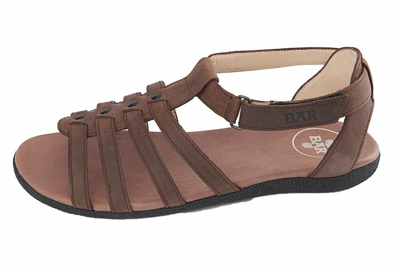 Bär Damen Schuhe Sandalen Sandaletten Matanza schwarz braun Leder