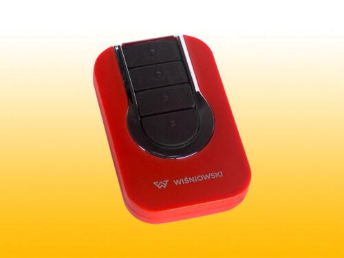 Wisniowski Handsender U-MOVE Rot 433,92MHz kompatibel zu Lunar 4GO Cover