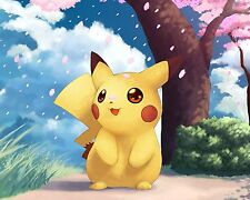 Pokemon Pikachu Paint Poster Japanese Anime Manga Wall Art Print Decor 16''x20''