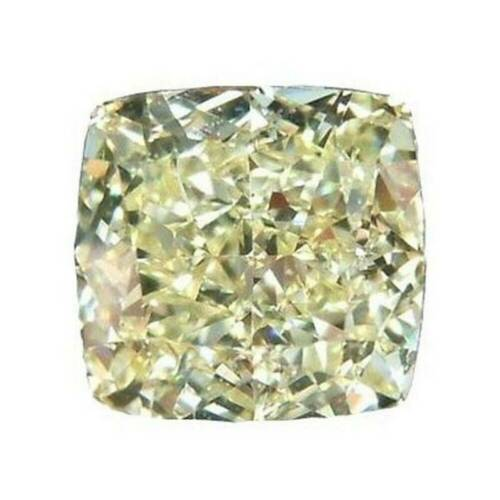 Loose Moissanite Yellow Color Cushion Diamond Cut Lab Created 2.28 TO 2.53 CT