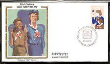 Canada Scott # 1062 Girl Guides Movement FDC. Colorano Silk Cachet.