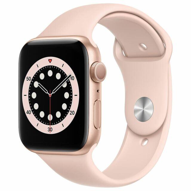 Apple Watch Series 6 GPS 44mm Gold Aluminum Smartwatch - Pink