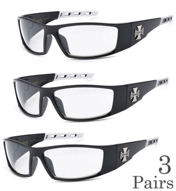 d1705ddfcdd6e 3 Pair Combo Chopper Sunglasses Motorcycle Glasses Clear Lens C50 ...