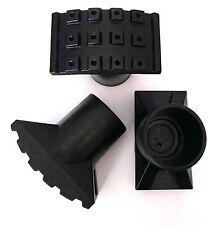 4x Leiterfuß Ø 40 mm Bodengleiter Fußkappe Rohr-kappe Gartentisch Stuhlkappe Neu