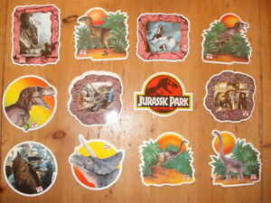 Jurassic-Park-Parc-JP-1992-stickers-stickerset-movie-set-vintage