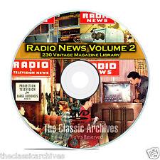 Radio & TV News, Electronics World, Vol 2, 230 Vintage Magazines PDF DVD B83