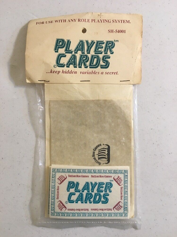 Sutton Hoo Games Player Cards  RARE  OUT OF PRINT