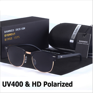 Fashion-Retro-Polarized-Sunglasses-Semi-Rimless-Vintage-Mirrored-Eyewear-UV400