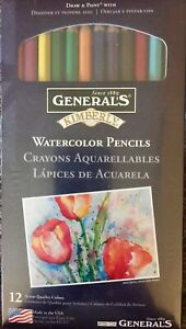 General-s-Watercolor-Pencils-Set-Of-12-New-In-Package