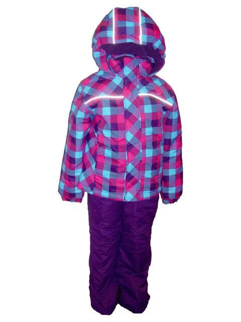 New Pulse Girls Toddler 2 Piece Snowsuit Ski Jacket Snow Pants 2T  Plaid