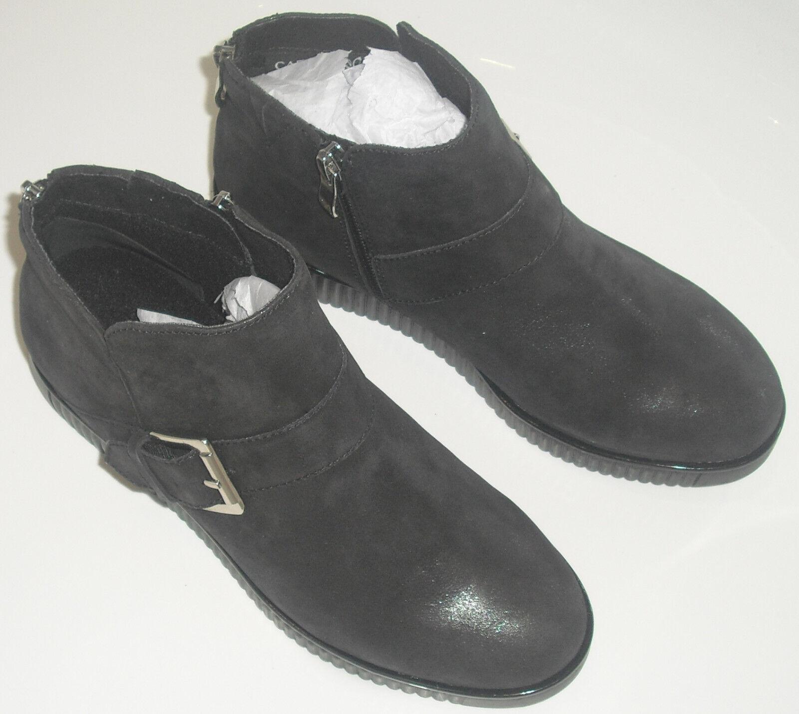 Caprice Schuhe Stiefelette BLACK SUEDE gr.37