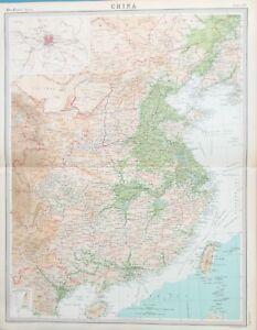 Map Of China Taiwan 1922 Asia Hong Kong Peking Ebay