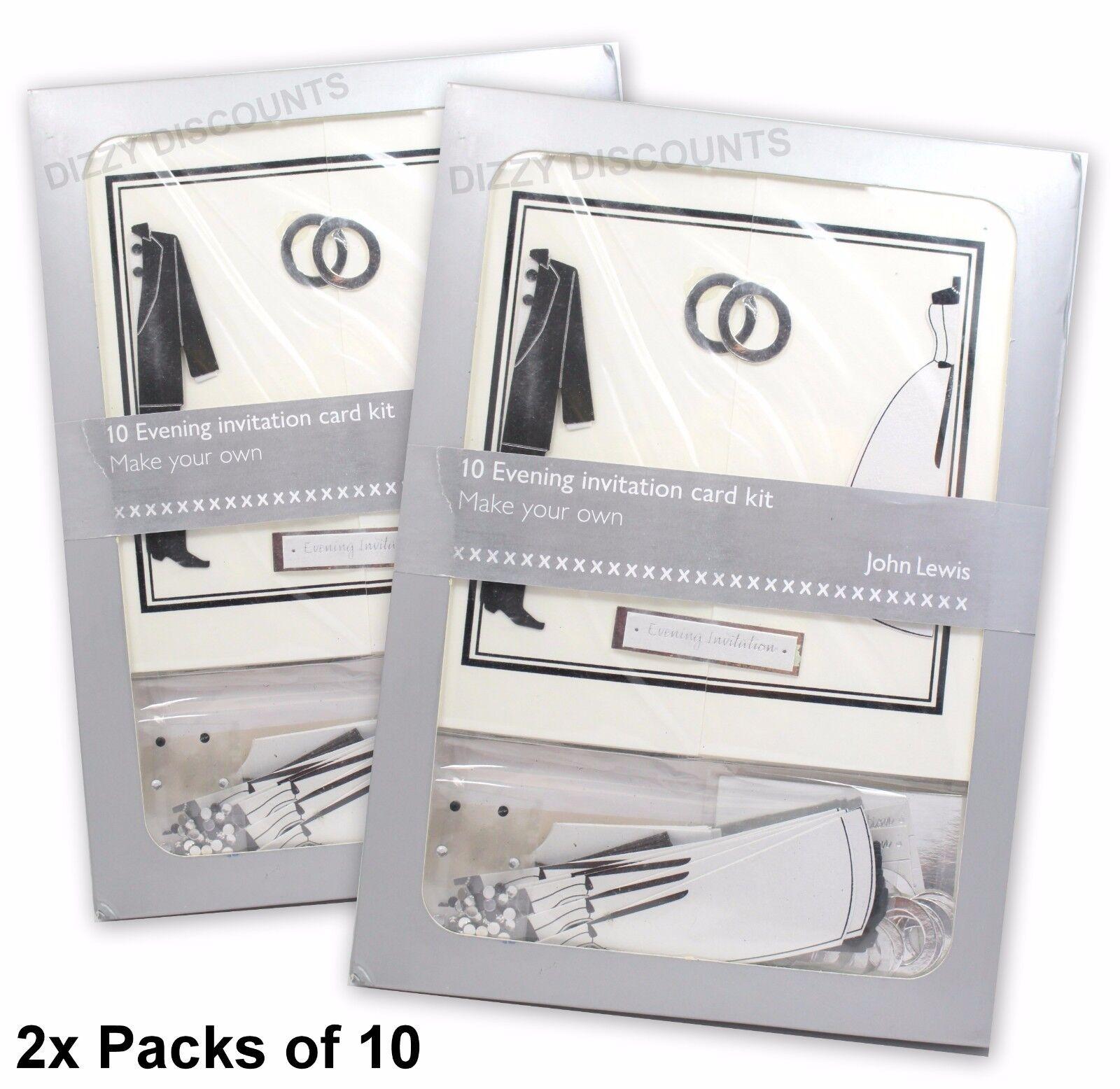 John Lewis 20 Make Your Own 14x14cm Evening Invitation Wedding Card ...
