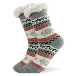 Christmas-Womens-Thick-Knit-Sherpa-Lined-Cozy-Thermal-Fuzzy-Sock-5-10
