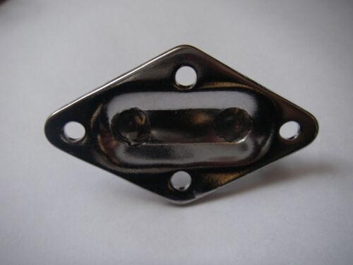 Pontet sur platine inox Losange 50x80mm inox Lot de 5