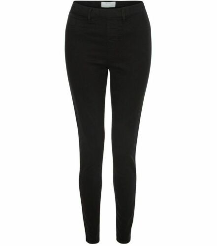 Women/'s Ex-store Skinny Stretch Mi Taille Jeans Taille UK 28 petite jambe noir