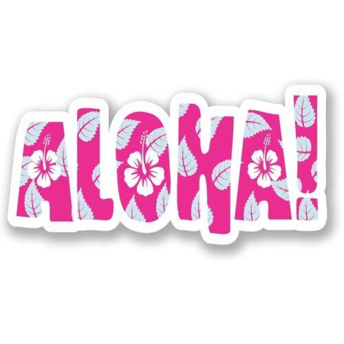 2 x Aloha Hawaii Vinyl Sticker Laptop Travel Luggage Car #5323