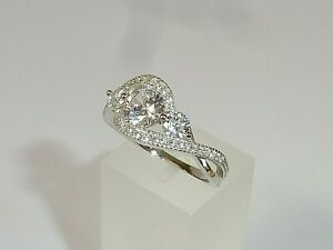 Ladies-925-Solid-Silver-Brilliant-Cut-3-Stone-White-Sapphire-Eternity-Ring