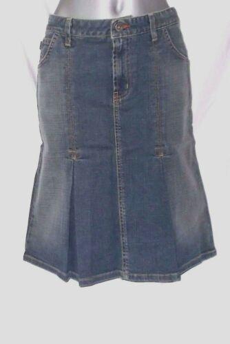 Blue Denim Sizes 2 4 Jean Skirt Blujeanious Knee Length New 98/% Cotton 2/% Lycra
