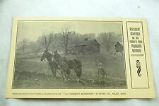 Vintage President Coolidge on His Father's Farm, Plymouth, VT Postcard P32
