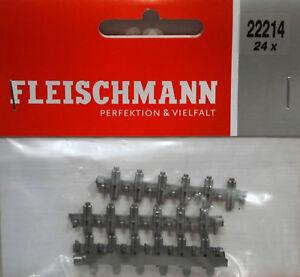 Fleischmann 22214 - 24 X Insulated Plastic Rail Joiners For N Gauge - 1st C Post 9dbgubr4-07184130-690710617