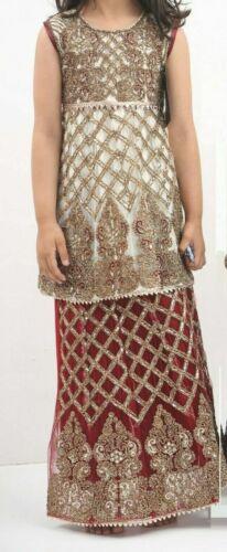 EID INDIAN PAKISTANI EMBROIDED GIRLS LEHNGA BLOUSE /& SKIRT DRESS PARTY AGE 3-7