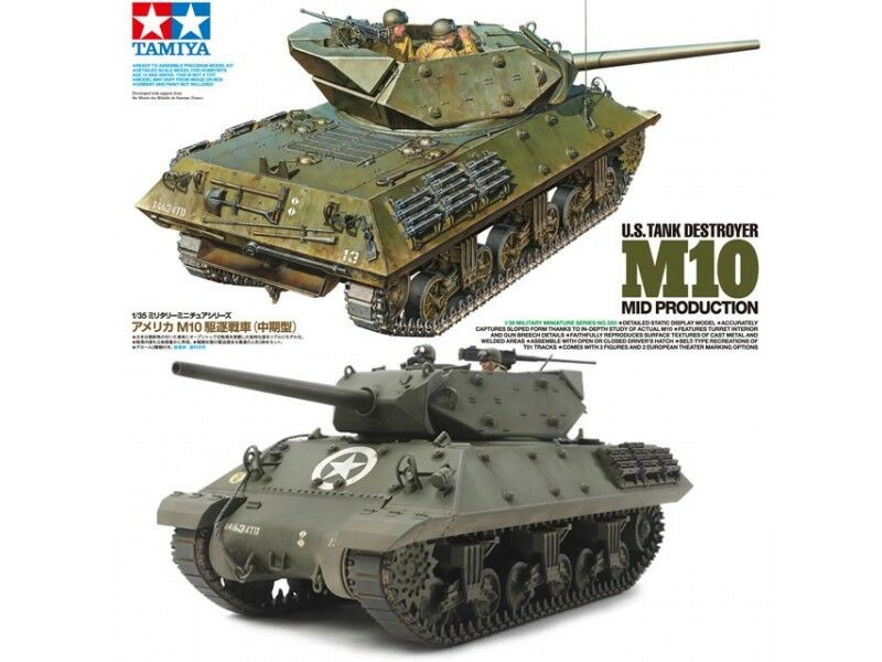 Tamiya 1 35 scale US M10 Mid Production tank model kit