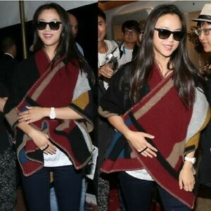 CELEBRITY-RUNWAY-WOOL-CASHMERE-PERSONALISED-MONOGRAM-COLOUR-BLANKET-PONCHO-CAPE