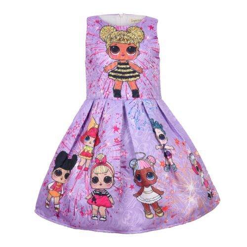 LOL Girl Princess Dress Surprise Doll Dress Holiday Christmas Birthday Gift
