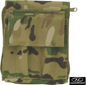 HIGHLANDER EXPLORER MAP CASE BLACK HMTC– water resistant uk army mtp multicam