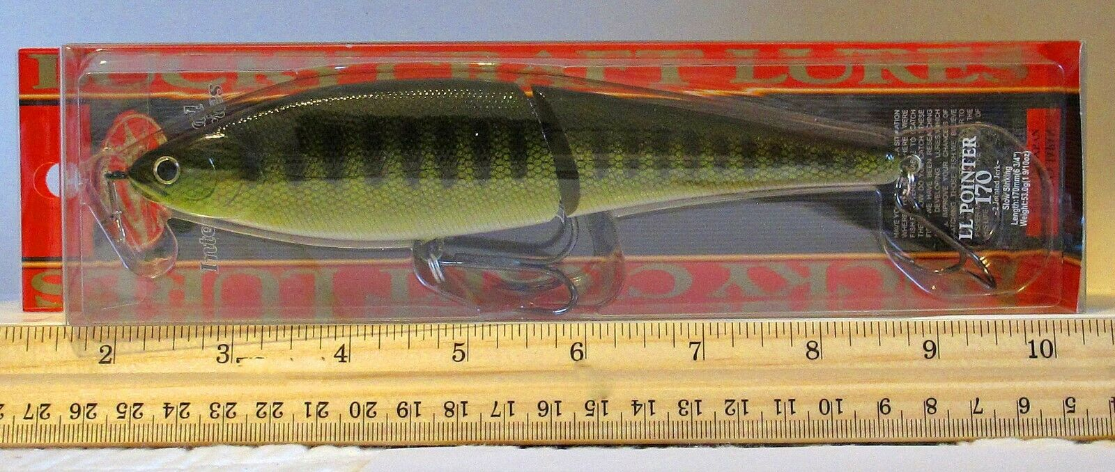 """lucky craft pointer ll 170 ss slow sinking 6 3//4/"""" 1 9//10oz pearl goujon musky"""