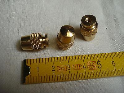 1 raccord de fin de lustre en laiton pas de vis 4 mm réf C forme de gland