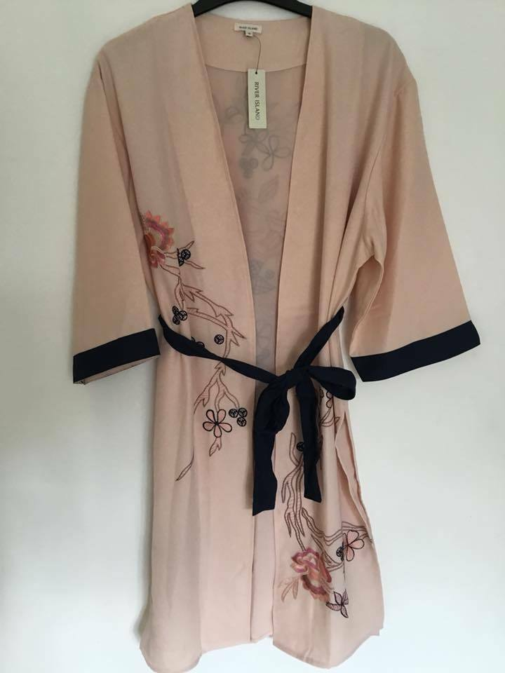 River Island Pretty Western Light Pink Embroidered Wrap -