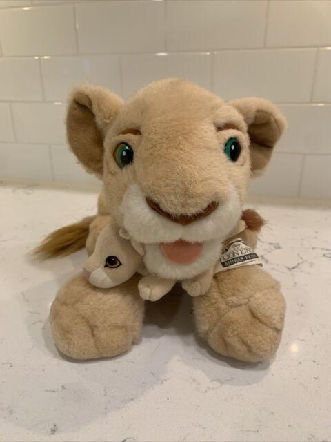 Disney Lion King Plush Set Licking Nala Simba's Pride Baby Cub Kiara Kick Action