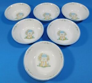 6-Lenox-Village-Dinnerware-Set-Cereal-Bowls-6-5-Inches