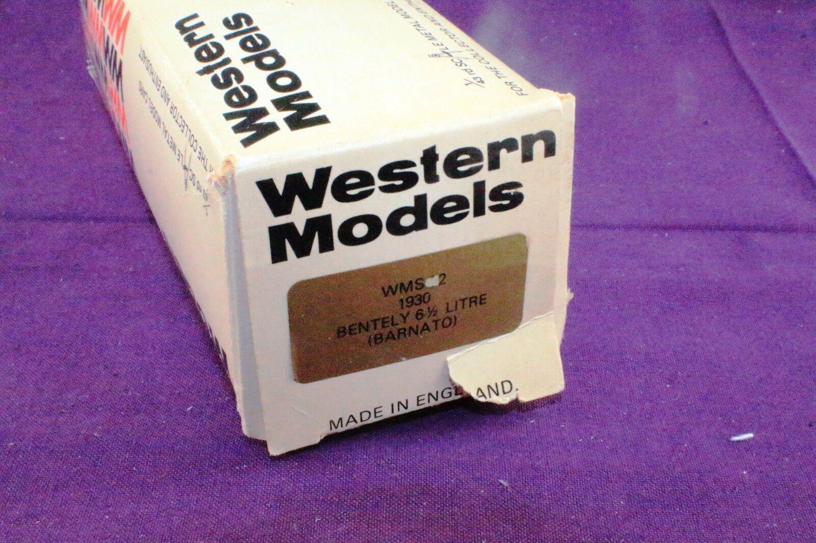 Western Models WMS32 WMS32 WMS32 1930 Bentely 6 1 2 Litre  BARNATO  Made in England f127c3
