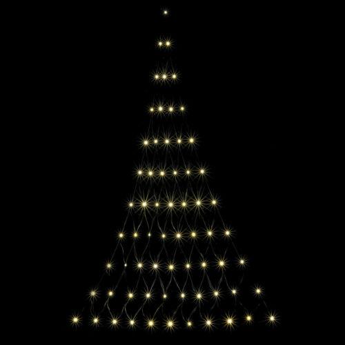 66er LED-Lichternetz Triangelnetz Weihnachtsbaum warmweiß Lichterkette Batterie