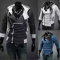 Mens Slim Fit Hooded Sweatshirt Zipper Coat Winter Jumper Sweater Tops Outerwear