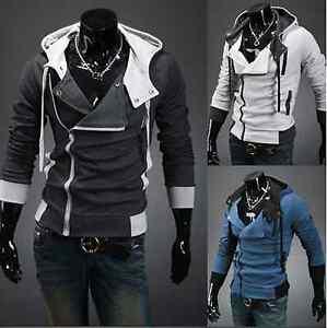 Men-039-s-Warm-Zip-Up-Hoodie-Hooded-Sweater-Slim-Fit-Sweatshirt-Coat-Jacket-Outwear