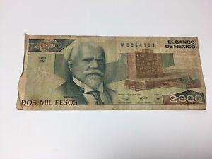 1987-Dos-Mil-Pesos-2-000-Banco-De-Mexico-CM-Series-Circulated