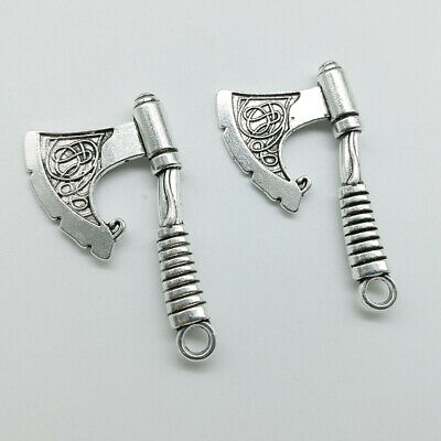 Lot 10pcs axe Antique Silver Charms Pendants For Jewelry Making DIY 43*24mm
